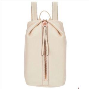 Aimee Kestenberg cream leather backpack